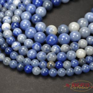 Aventurin Kugel glanz blau 4 – 12 mm, 1 Strang