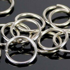 Binderinge dunkelsilber offen Metall Ø 12 mm 20 Stück