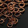 Anneaux de saut œillets métalliques ouverts Ø 4-10 mm 20 pièces - le cuivre, 5 mm à 0,7 mm