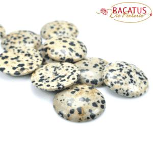 Dalmatiner Jaspis Cabochon 30 mm, 1 Stück