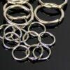 Anneaux de saut œillets métalliques ouverts Ø 4-10 mm 20 pièces - argent foncé, 7 mm à 0,7 mm