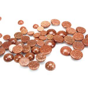 Goldfluss Cabochon 8 – 12 mm, 1 Stück