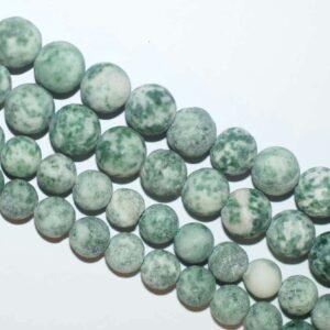 Jaspis Kugel matt grün weiß ca. 4mm, 1 Strang