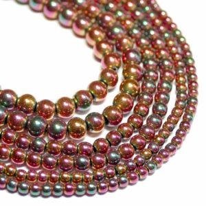 Sfera di ematite rosa brillante 2 – 4 mm, 1 filo
