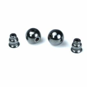 Guru perla ematite antracite 10 e 12 mm, 2 parti. impostato