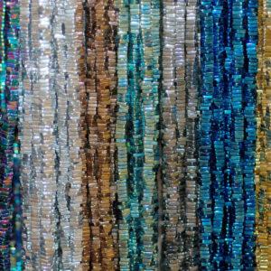 Ematite quadrati selezione colore lucido 3×1 – 6×1 mm, 1 capo