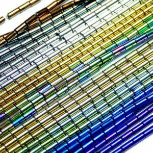 Selezione del colore dei tubi di ematite 2 x 4 mm, 1 filo