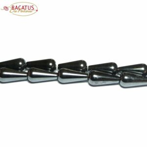 Gocce di ematite antracite 6 x 16 mm, 1 filo