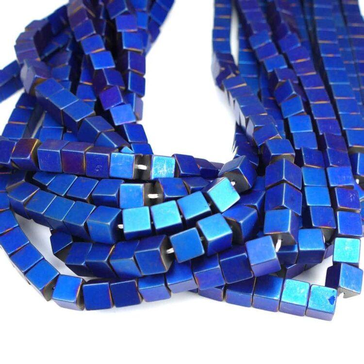 hematite-cube-matt-blue