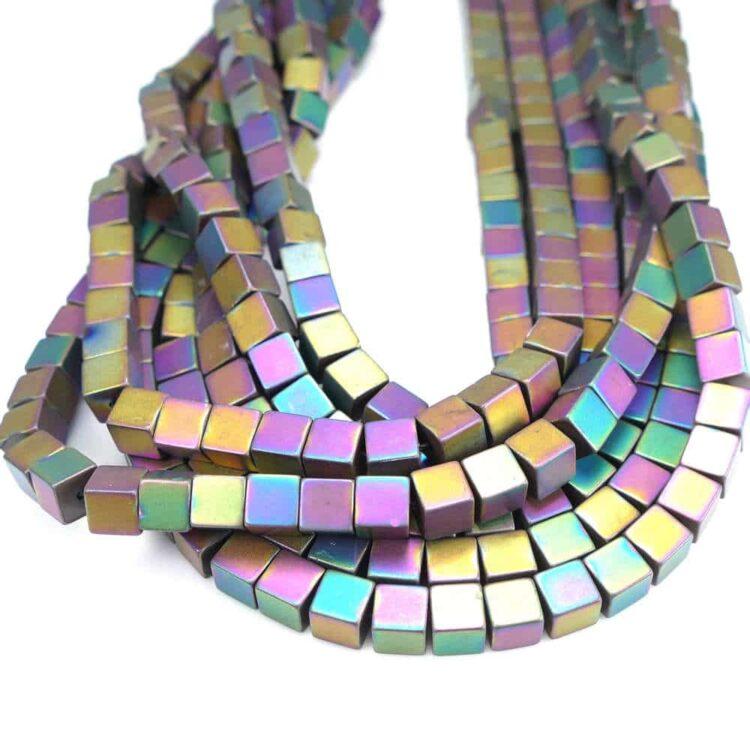hematite-cube-matt-colored