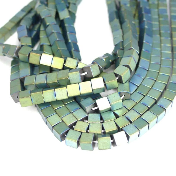 hematite-cube-matt-green