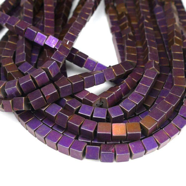 hematite-cube-matt-purple