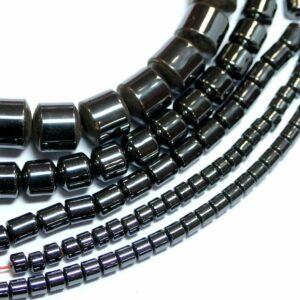 Cilindro ematite antracite 3 – 8 mm, 1 filo