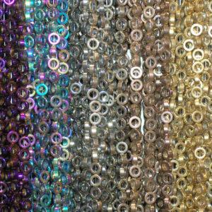 Ciambelle in ematite gloss selezione colori 8 – 16 mm, 1 capo