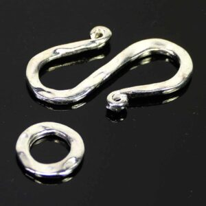 S-Schließe Verschluss Metall Silber 26×17 mm
