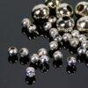 Kaschierperlen Hohlkugeln Metall dunkelsilber 4-8 mm 50 Stück - 4mm