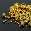 Kaschierperlen Hohlkugeln Metall gold 2-8 mm 50 Stück - 2mm