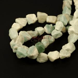Amazonit Nuggets Grüntöne ca. 13 x 22 mm, 1 Strang
