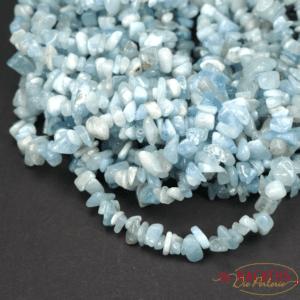 Aquamarine sliver 5 x 8 mm, double strand