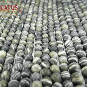 Sfera diaspro africano verde scuro opaco 6 – 10 mm, 1 capo