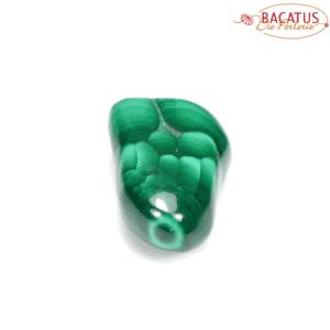 Malachite gemstone approx. 26 x 37 mm, 1 piece