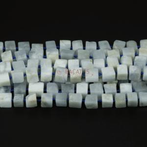 Aquamarin Block ca. 9 x 11 mm, 1 Strang