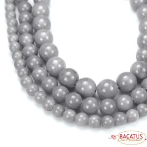 Mashan Jade Kugel grau 4 – 14 mm, 1 Strang