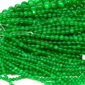 Jade Kugel glanz grün 4 – 10 mm, 1 Strang