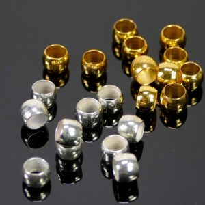 Beads large hole metal 4×2.5 mm 50 pieces