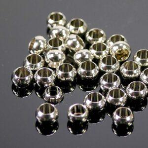 Perles grand trou métal 3×2 mm 50 pièces