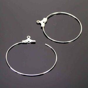 Pendenti creoli con occhiello in metallo 35 mm 6 pezzi