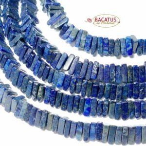 Lapis lazuli triangles 8 mm, 1 strand