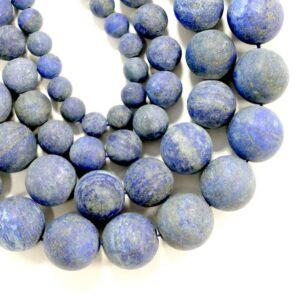Lapis lazuli matt round 2 – 18 mm, 1 strand
