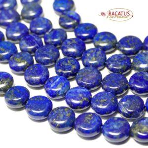 Lapis lazuli coins 10 mm, 1 strand