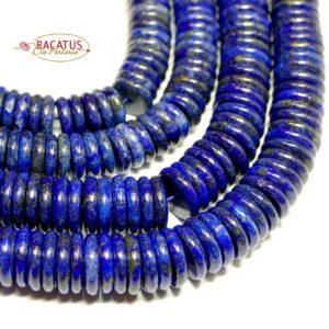 Lapis lazuli discs 3×10 & 3×12 mm, 1 strand