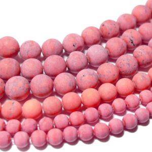 Sfera di magnesite rosso opaco 4 – 12 mm, 1 capo