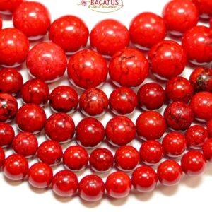 Sfera di magnesite rosso brillante 4 – 14 mm, 1 capo