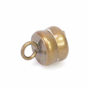 Magnetverschluss Mini Metall messing 6×10 mm