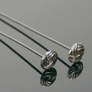 Nietstifte Zierkopf filigranes Hütchen Metall anthrazit 5 cm 4 Stück