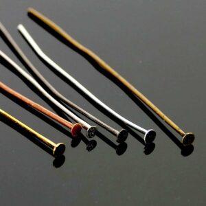 Nietstifte Platte Metall Farbauswahl 5 cm 20 Stück