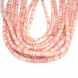 Ruote opale rosa 2 x 4 mm, 1 filo