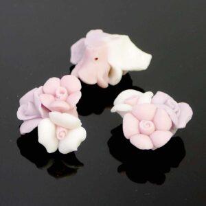 Porzellan Blume Rosen Pastellfarben 18×11 mm