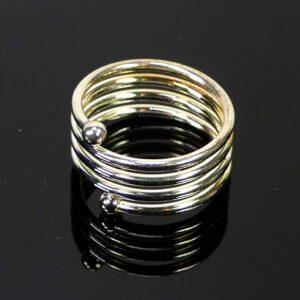 Ring Rohling mit Spirale versilbert Metall 21 mm