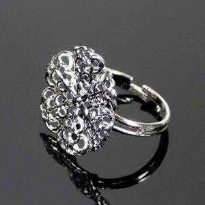 Ring Rohling zum Fädeln silber Metall 20 mm