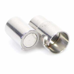 Chiusura magnetica a vite in metallo argento