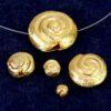 Schnecke 925 Silber *vergoldet* gebürstet Ø 4-18 mm - 4mm