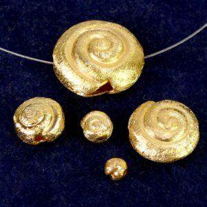 Chiocciola argento 925 * placcato oro * spazzolato Ø 4-18 mm