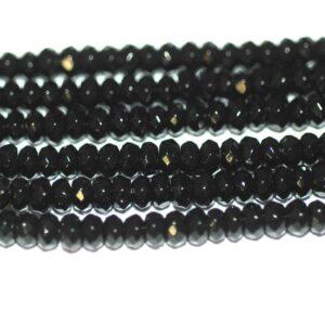 Jade rondelle sélection de couleurs facettées 2 x 4 mm, 1 fil