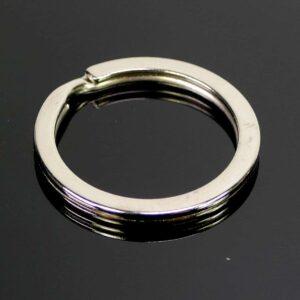 Schlüsselring Spaltring groß Metall silber 25 mm 5 Stück
