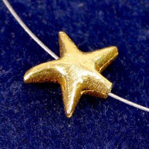 Stella marina argento 925 * placcato oro * spazzolato Ø 12 mm